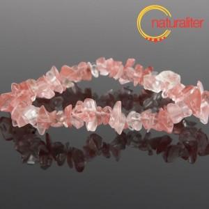 Růžový obsidián - zlomky, návlek 20cm / náramek