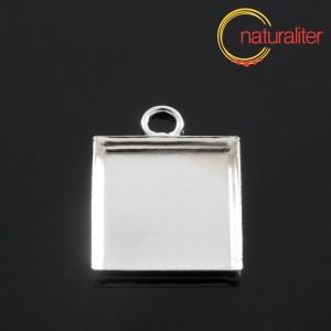 Lůžko čtverec 16x16mm stříbrná barva, hluboké