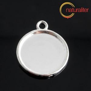Lůžko kruh 20mm stříbrná barva, silný okraj
