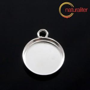 Lůžko kruh 18mm stříbrná barva, hluboké