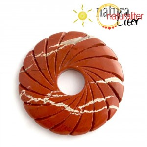 Jaspis - zdobený donut 56mm