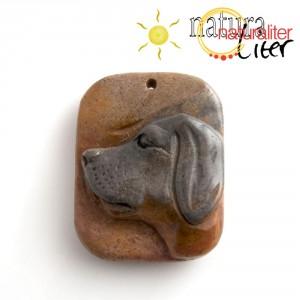 Pes - přívěsek z jaspisu