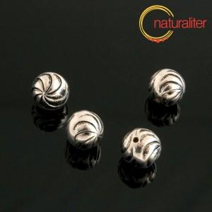 Výprodej - Pokovený akrylový korálek 12mm, 2ks