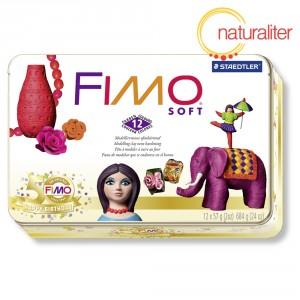 Výprodej - Sada FIMO Soft - kovový RETRO box