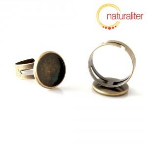 Základ na prsten s lůžkem 14 mm starobronz