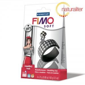 Šperková sada FIMO Soft DIY - černá a bílá