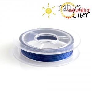 Lakovaný měděný drátek 0,3mm modrý - cívka 10m