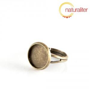 Základ na prsten s lůžkem 12mm starobronz