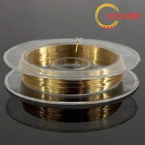 Lakovaný měděný drátek 0,3mm zlatý - 10m