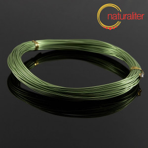 Hliníkový drát světle zelený, 1mm x 10m