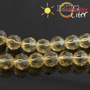 Výprodej - Skleněné ohňovky 8mm, žluté, 5ks