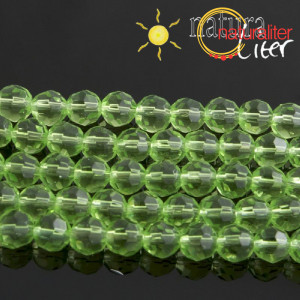 Výprodej - Skleněné ohňovky 6mm, zelené, 5ks