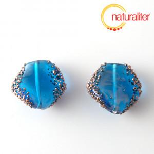 Výprodej - Vinutá perla světle modrá