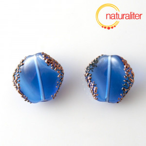Výprodej - Vinutá perla tmavě modrá