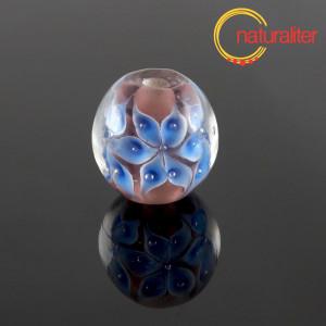 Výprodej - Vinutá perla s květinami
