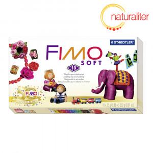Výprodej - Sada FIMO Soft RETRO - základní 10 barev + pomůcky
