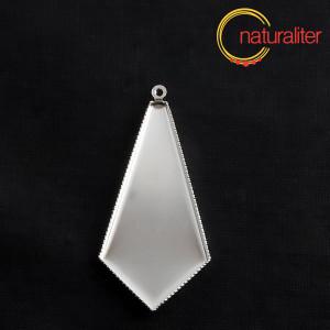 Lůžko kravata 43x21mm platinová barva