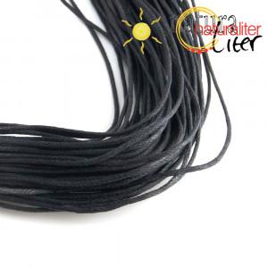 Voskovaná šňůra černá 1 mm, 1 m