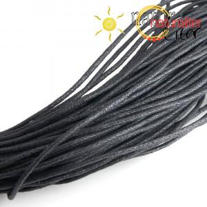 Voskovaná šňůra černá 1.5 mm, 5 m