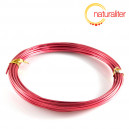Hliníkový drát červený, 1,5mm x 6m