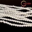 Perleťové korálky bílé - kulaté 6mm, návlek 39cm