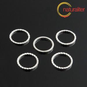 Ozdobné spojovací kroužky 12mm stříbrná barva, 5ks