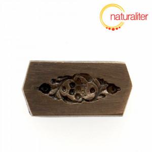 Výprodej - Mosazná forma, květina s listy 24x8,5mm