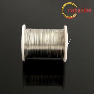 Lakovaný měděný drátek 0,3mm stříbrná barva - 10m