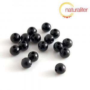 Voskované perly, černé, 6mm, 50ks