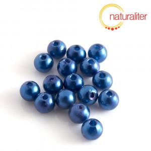 Voskované perly, tmavě modré, 6mm, 50ks
