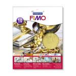 Zlaté kovové plátky FIMO